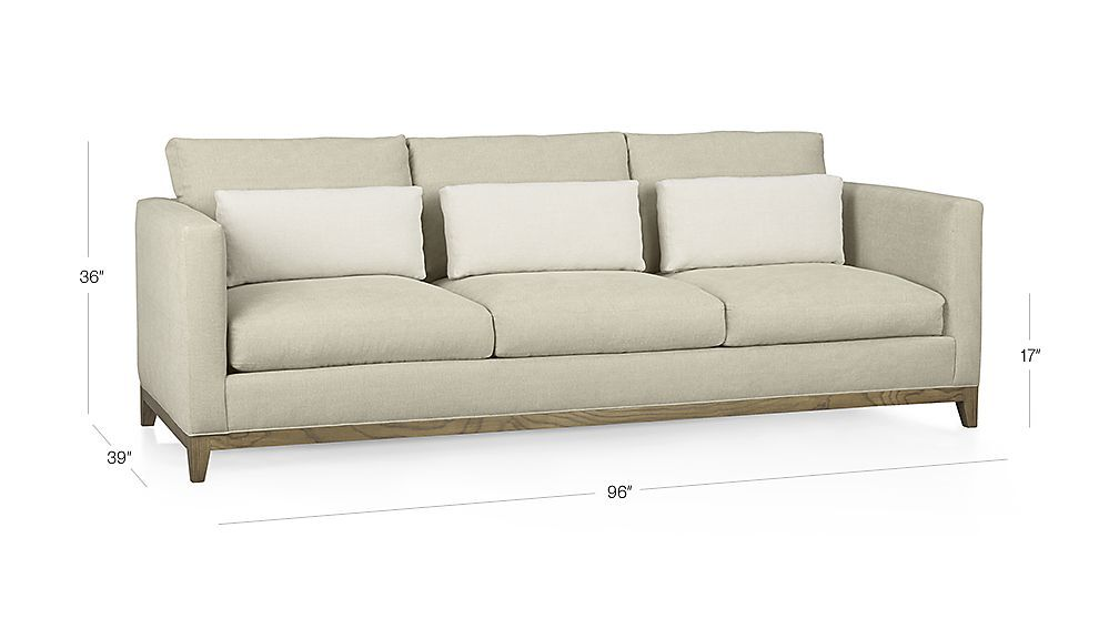 Taraval 3 Seat Sofa With Oak Base Couchs Sofa Apartment Sofa