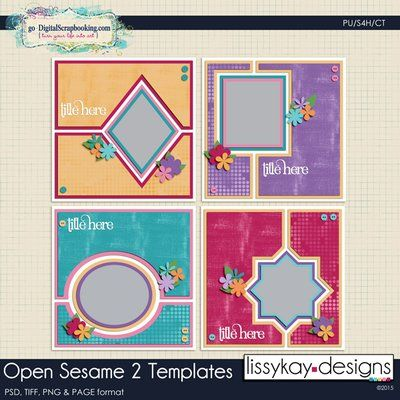 Open Sesame 2 Templates by LissyKay Designs