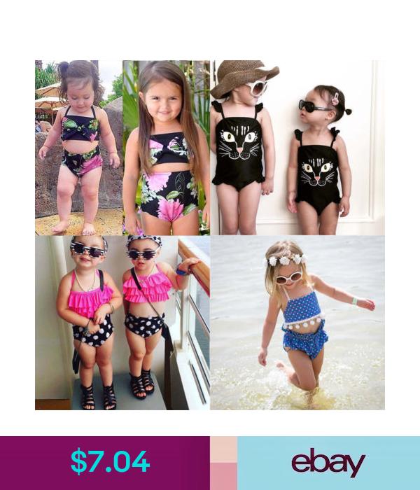 US Girls Bikini Swimwear Kids Swimsuit Outfit Tankini Set Bathing Suit Beachwear