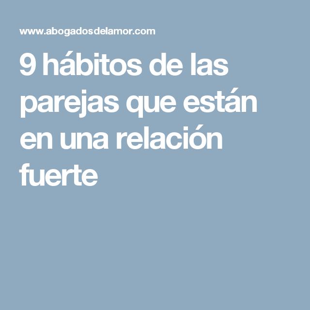 9 hábitos de las parejas que están en una relación fuerte