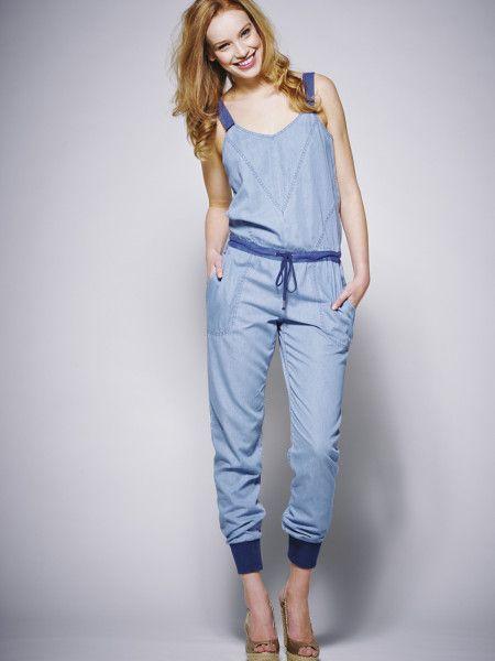 Dkny Blue Jeans Denim Jumpsuit