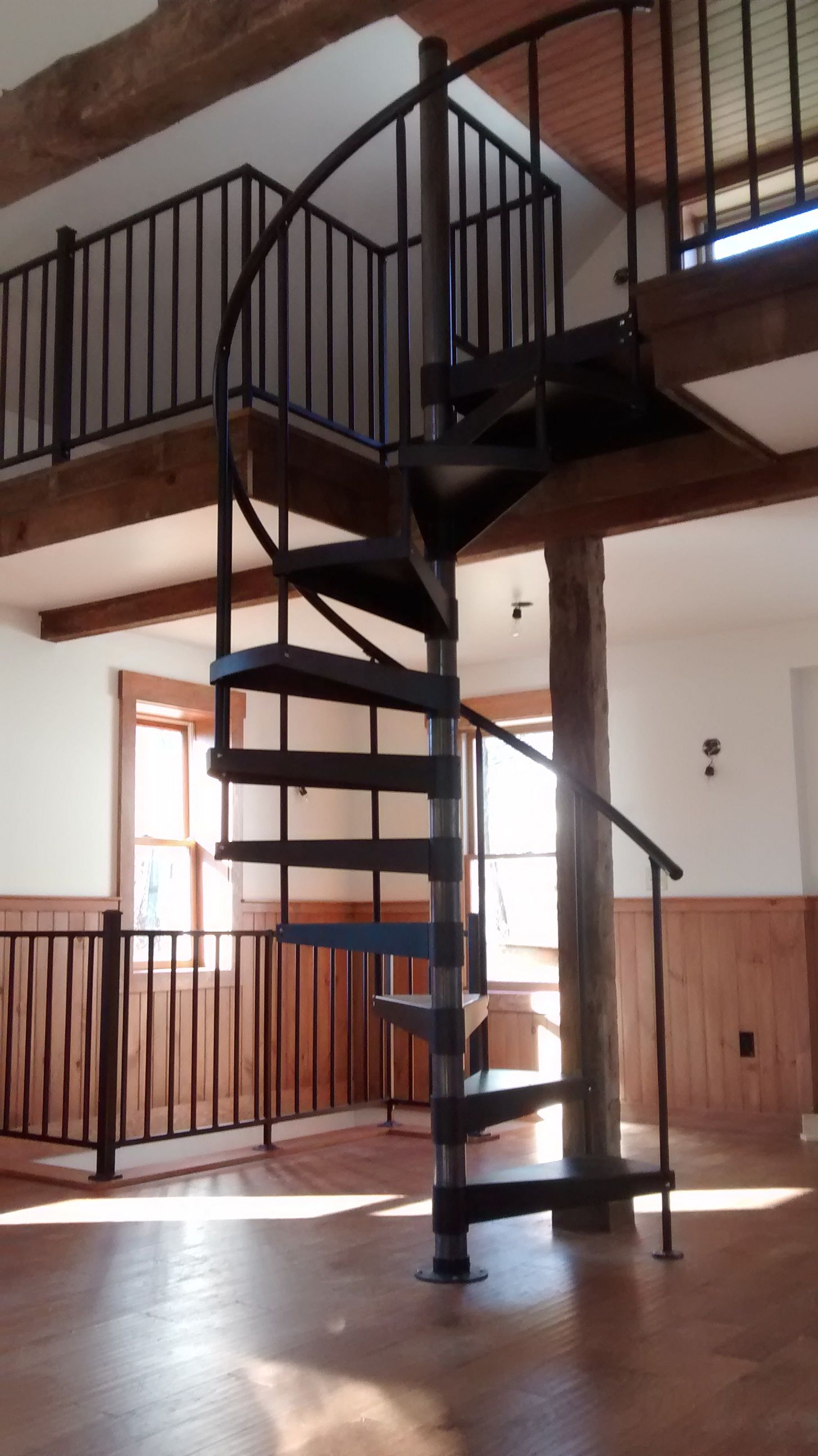 Best Loft Space Spiral Stair With Loft Railing Classic Steel 400 x 300