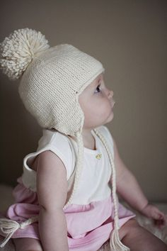 9eb20638af8 Knit baby hat with ear flaps  Free Pattern https   web.archive