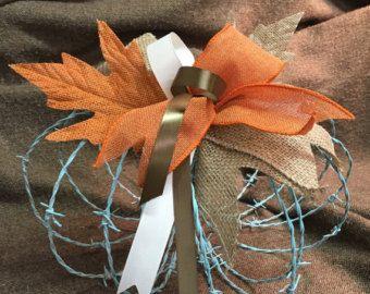 Barbed Wire Pumpkin by ARusticRabbit on Etsy