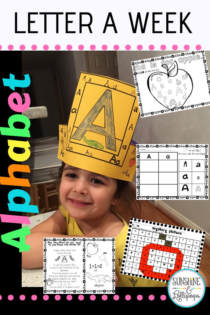 Alphabet Worksheets A Letter A Week Kindergarten Readiness Skills Alphabet Worksheets Kindergarten Resources [ 1102 x 735 Pixel ]