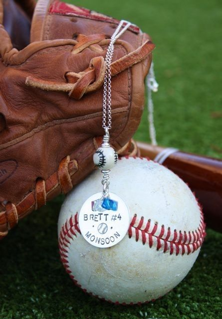 Hand Stamped Sports Necklace BASEBALL by TomisTreasures on Etsy, $40.00