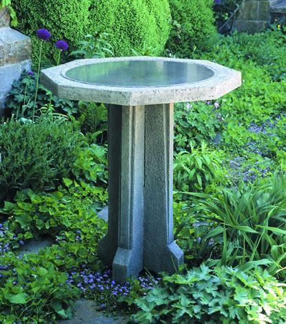 Pine Meadow Cast Stone Outdoor Garden Birdbath Concrete Bird Bath Stone Bird Baths Bird Bath Garden