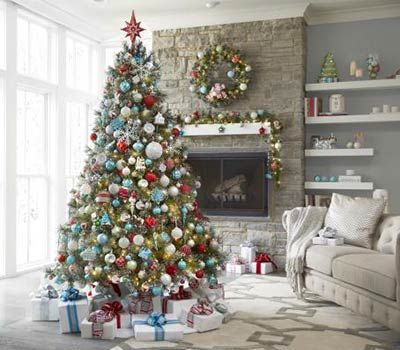 These Are My Martha Stewart Christmas Morning Ornaments But I Won T Be Home Depot Christmas Decorations Teal Christmas Decorations Colorful Christmas Tree
