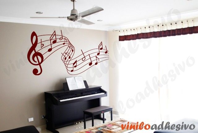 Vinilo notas musicales vinilo decorativo vinilos for Vinilo decorativo musical pared