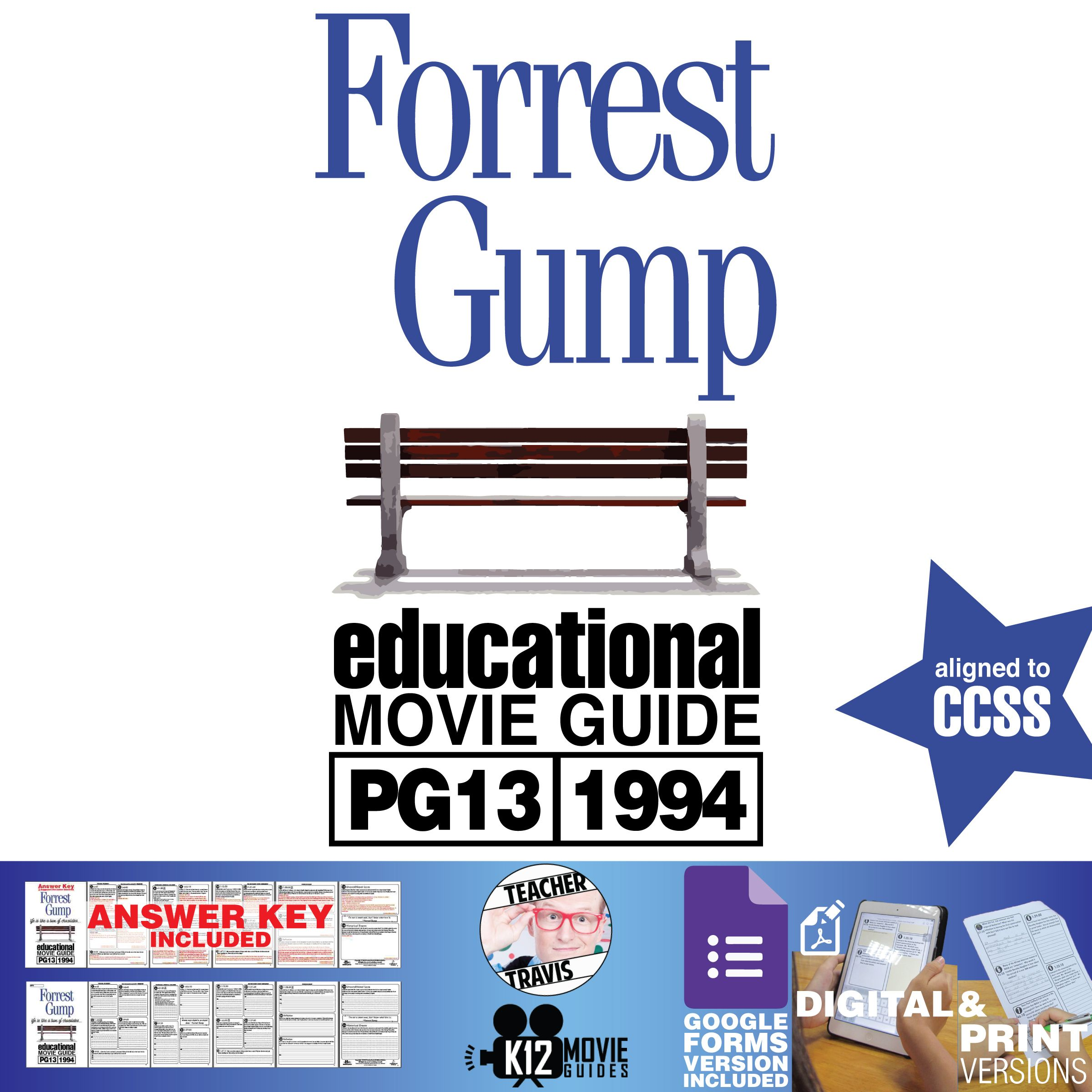 Forrest Gump Movie Guide Questions Worksheet Google Form Pg13 1994 Movie Guide Forrest Gump Forrest Gump Movie