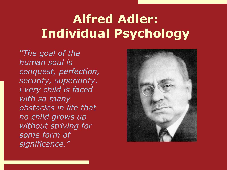 Alfred Adler Social Psychology