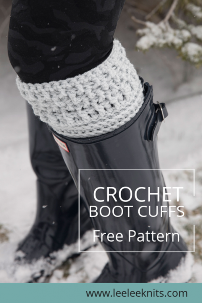 Modern Textured Boot Cuffs Crochet Pattern #bootcuffs