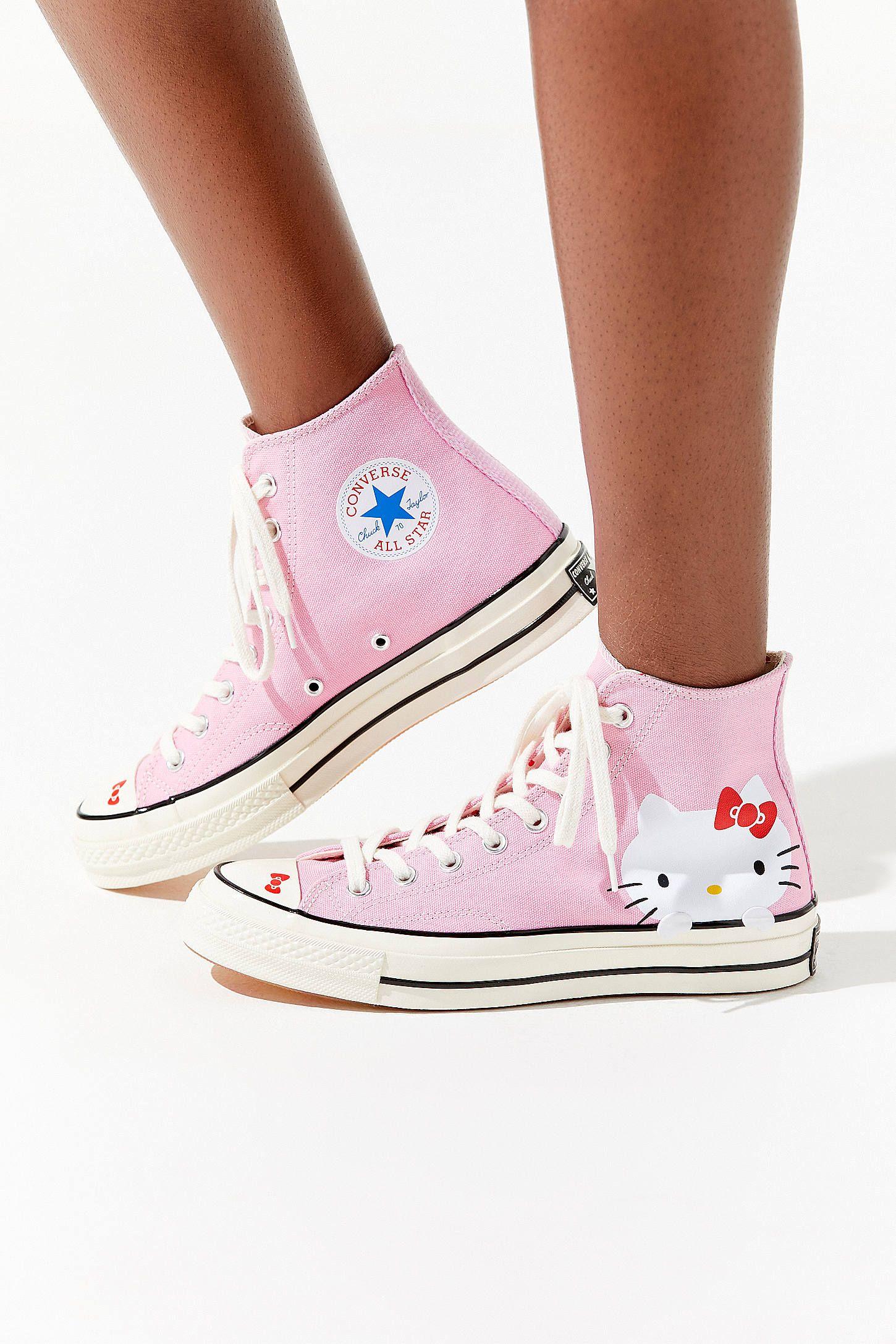 0f63e50984fa Converse X Hello Kitty Chuck 70 Canvas High Top Sneaker