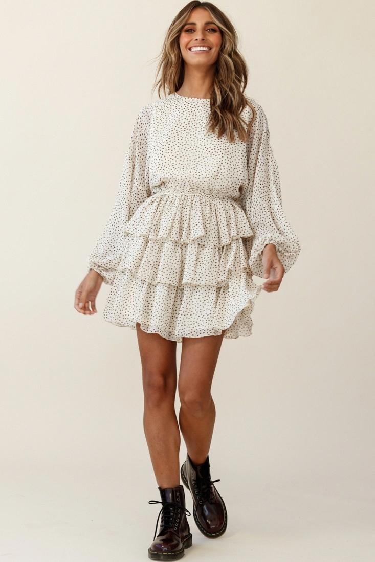 Mostexpensivefashionitems Layered Ruffle Dress Dresses Ruffle Dress [ 1099 x 733 Pixel ]