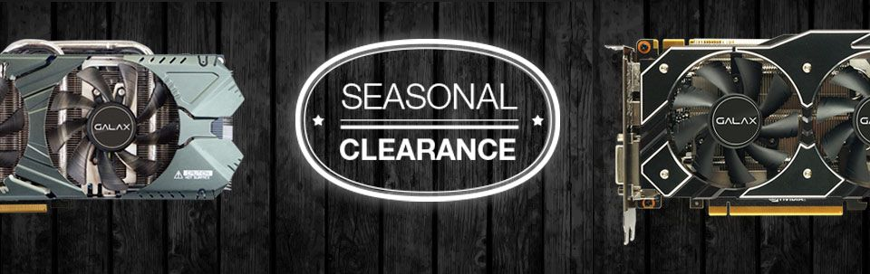 Galaxstore Net Seasonal Clearance Sale Is Here Get Your Galax Nvidia Geforce Graphics Cards Ssd S And More While Supplies Last With Images Graphic Card Galax Seasons