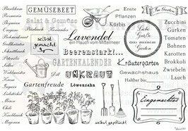 Stempel-Set Im Garten - Clearstamps - Acrylstempel - Deutsche Stempel