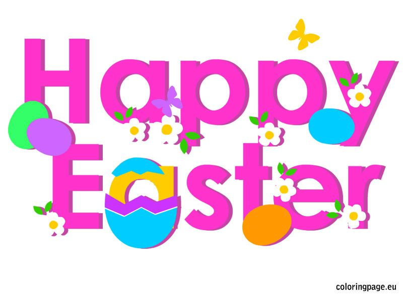 Happy Easter | Coloring Page