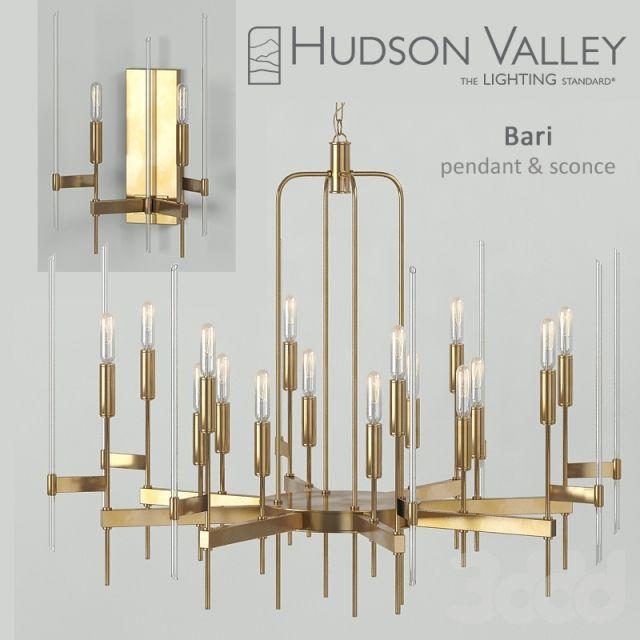 3d модели Люстры Люстра Hudson Valley Bari Pendant Sconce