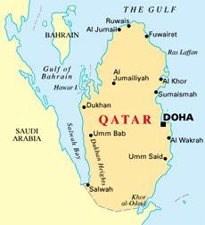 Qatar Map  Qatar  Pinterest  Asia