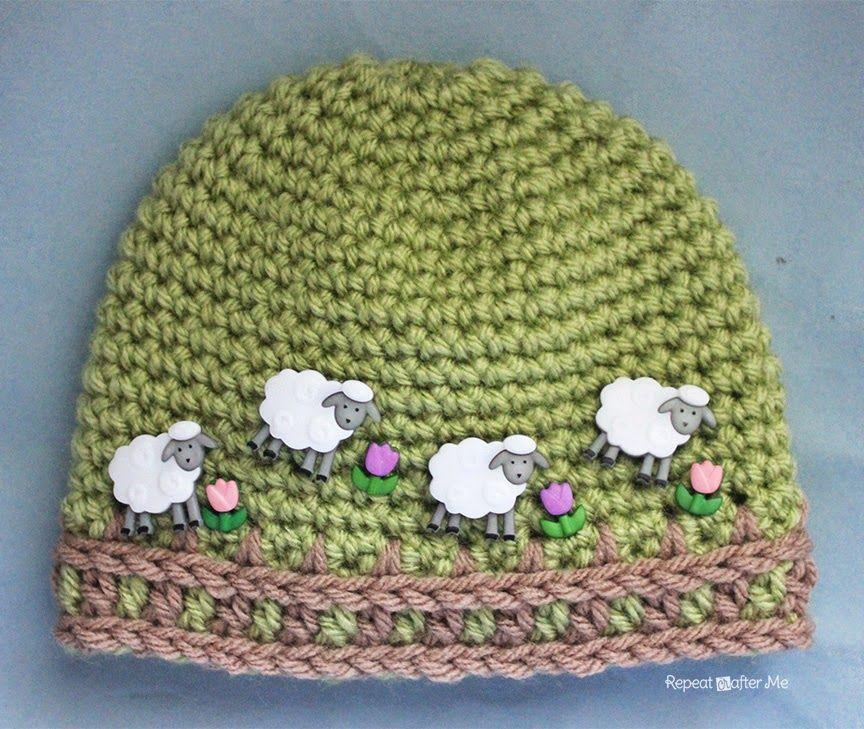 Crochet Farm Hat with Picket Fence Border | häkeln | Pinterest ...