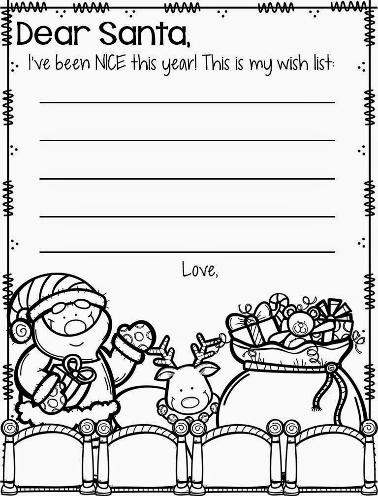 Rowdy In Room 300 December Santa Letter Santa Coloring Pages Santa Letter Template