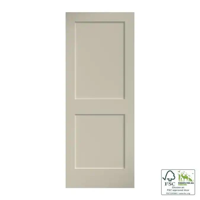 Eightdoors 24 In X 80 In White Primed 2 Panel Square Solid Core Wood Slab Door Lowes Com In 2020 Slab Door Pine Doors Wood Slab
