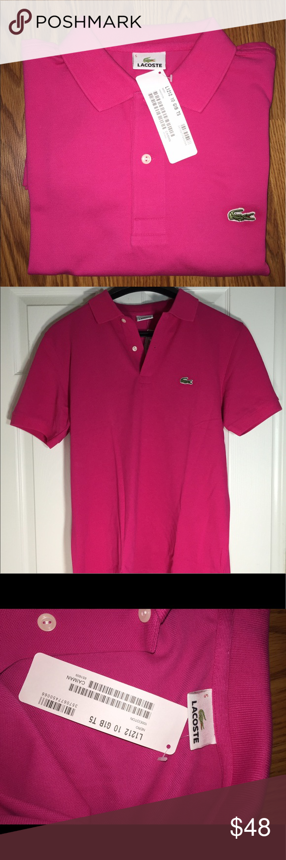 ed3c9aae Lacoste Men's Pink Polo Shirt - Sz 5 / Large Lacoste Men's Pink Polo Short  Sleeve Shirt - Size 5 NWT Authentic Lacoste Shirt Purchased In The  Philippines So ...