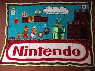 crochet awesome Nintendo blanket! inspiration for sure!