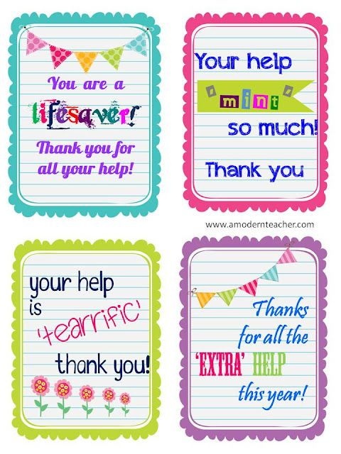 Thank You Notes To Parent Helpers | Teaching Ideas! | Pinterest