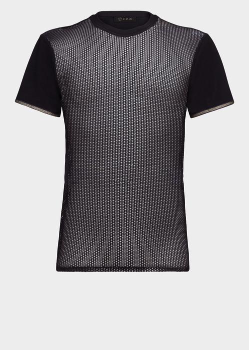d8f219b4b VERSACE Block Sleeve Netted T-Shirt. #versace #cloth #   Versace Men ...