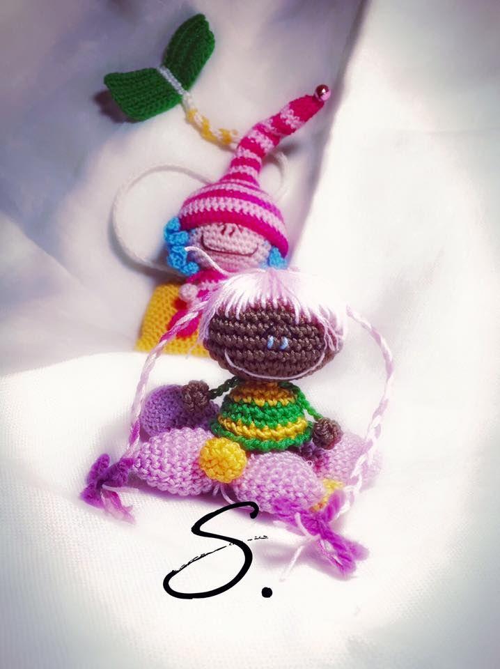 Free pattern Amigurumi elf and fairies crochet dolls. Folletti e ...