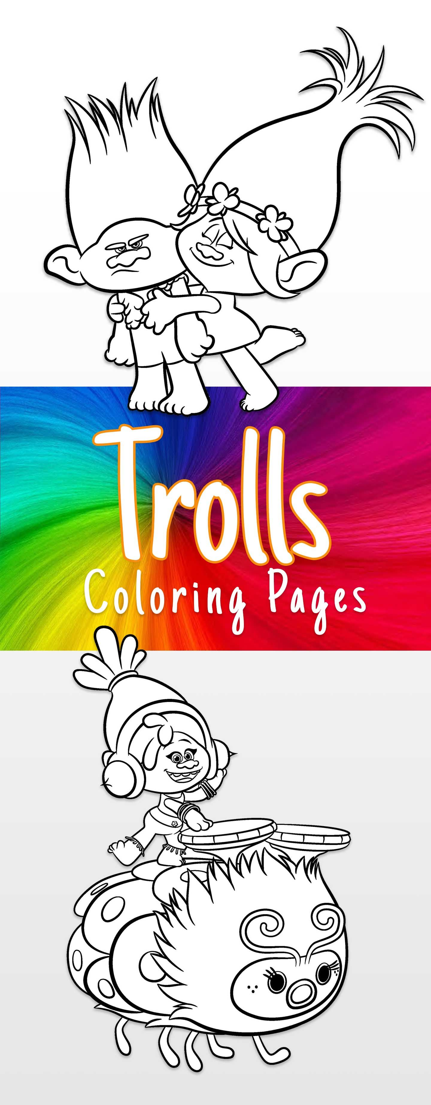 Trolls coloring sheets and printable activity sheets | Pinterest ...