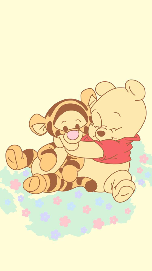 Winnie The Pooh And Tigger Iphone Wallpaper Cute Disney Wallpaper Disney Wallpaper Cartoon Wallpaper