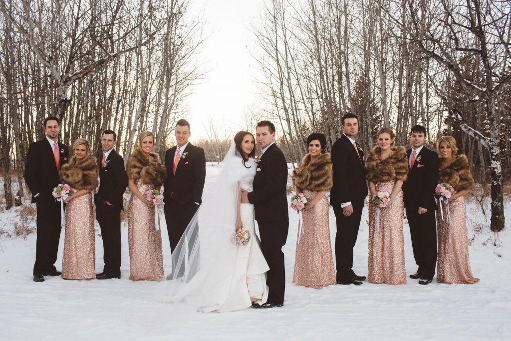 New Year S Eve Vermillion Wedding Bridal Party Fur Shawls Winter Hayley Paige