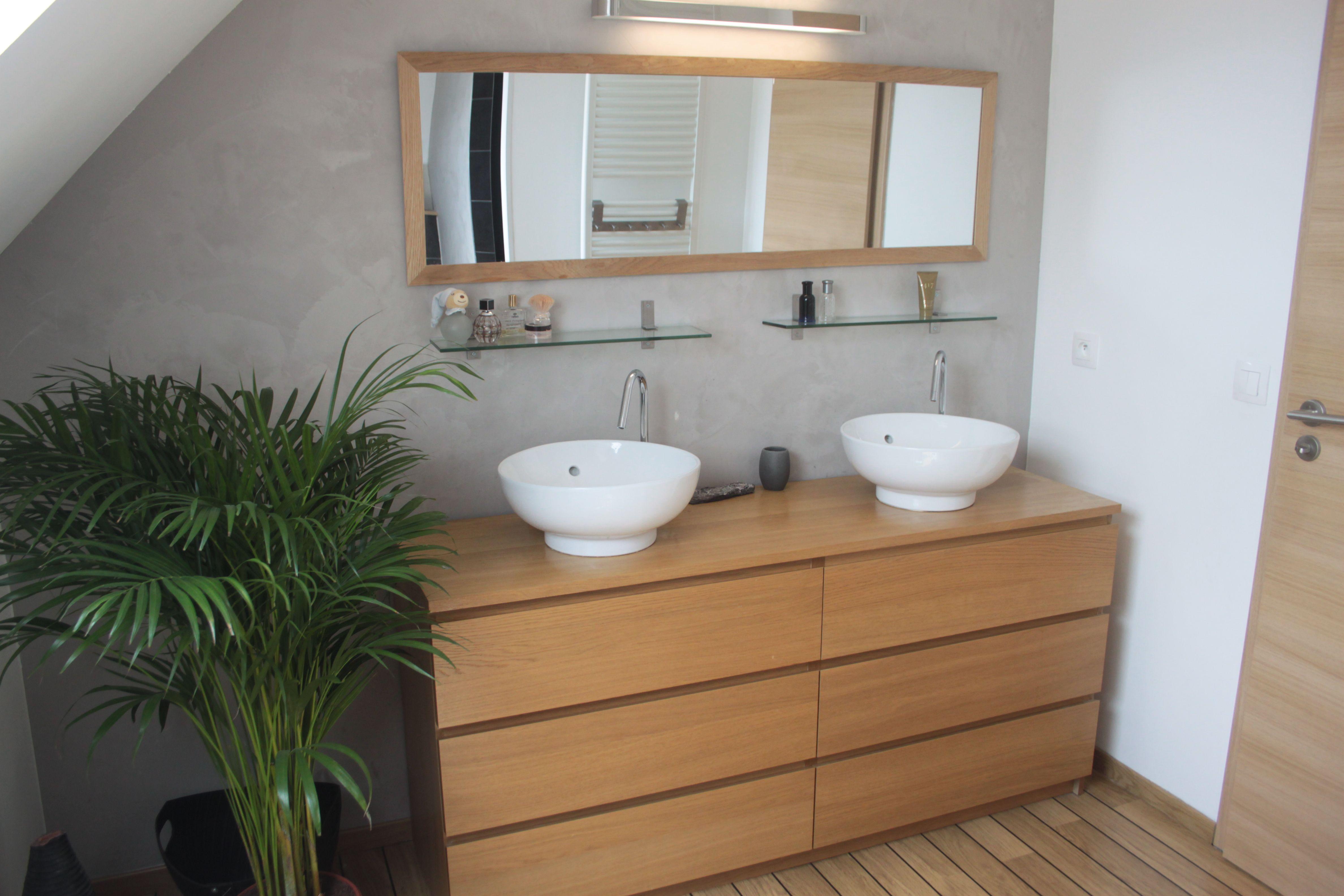 Commode Malm Ikea Detournee En Meuble De Salle De Bains Double Vasque Salle De Bain Design Meuble Sous Vasque Meuble Salle De Bain