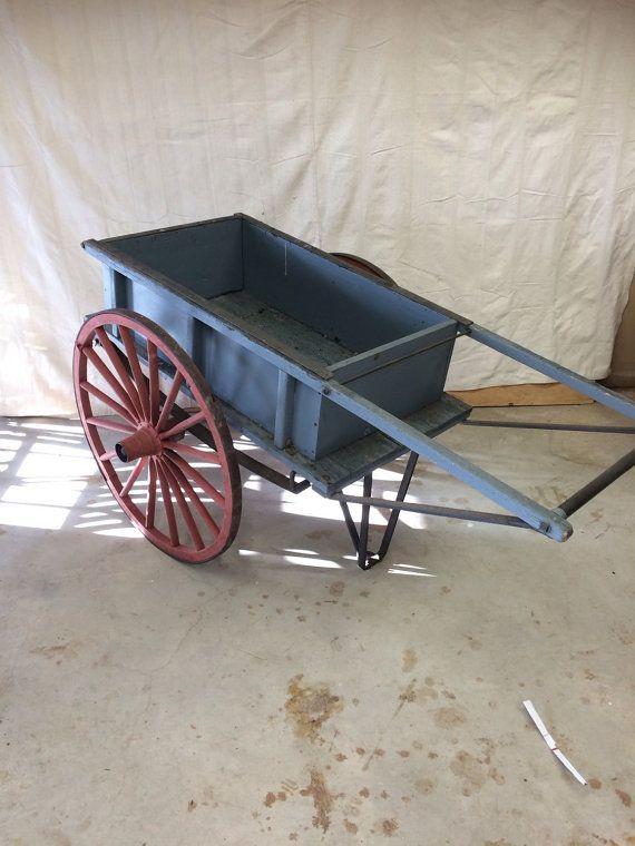 Antique Garden Cart Antique Wagon Flower Cart Wheelbarrow Garden Cart Wagon Vintage Wagon Antique Wagon Wheelbarrow Garden Cart