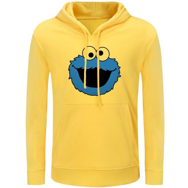 26543148ac iDzn Harajuku Women's Hoodies Funny Sesame Street Blue Cookie Monster  Casual Spring Autumn Girl's Printed Sweatshirts Tops S-3XL