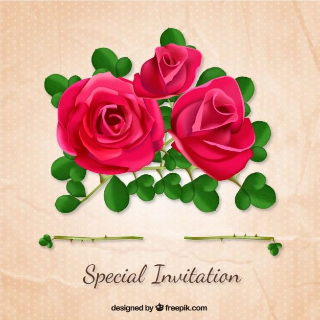 Special invitation with roses free vector flowers pinterest special invitation with roses free vector stopboris Choice Image