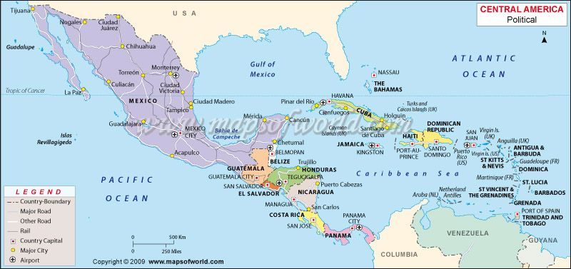 Mapa de Centroamerica Central america map Geography and Cycling