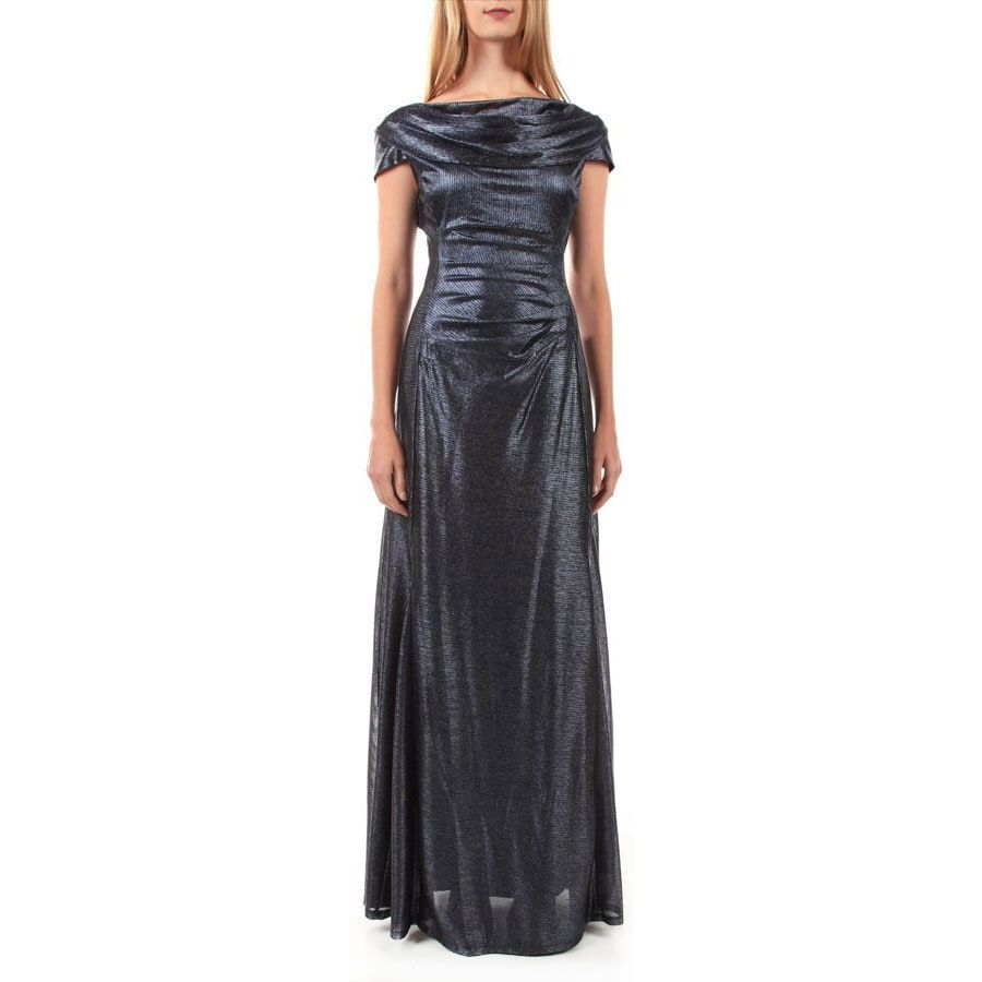 Tahari Arthur S Levine Metallic Foil Shirred Waist Dress In 2021 Von Maur Dresses Shirred Waist Dress Dresses [ 900 x 900 Pixel ]