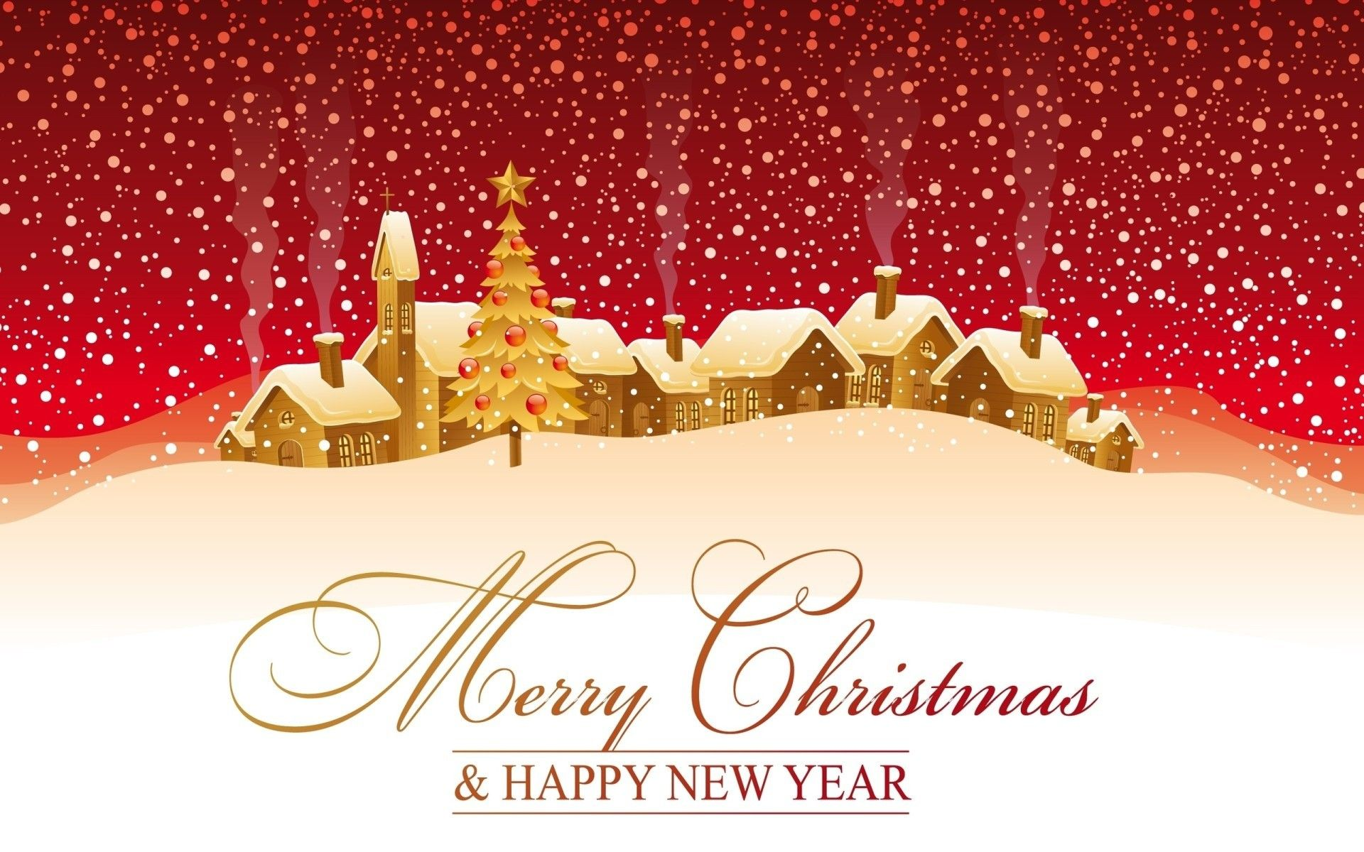 merry christmas and happy new year hd wallpaper