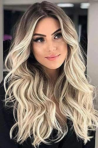 New Echo Wig Blonde Wigs for Women's Gift Natural Wavy Lace Front Wigs Synthetic…