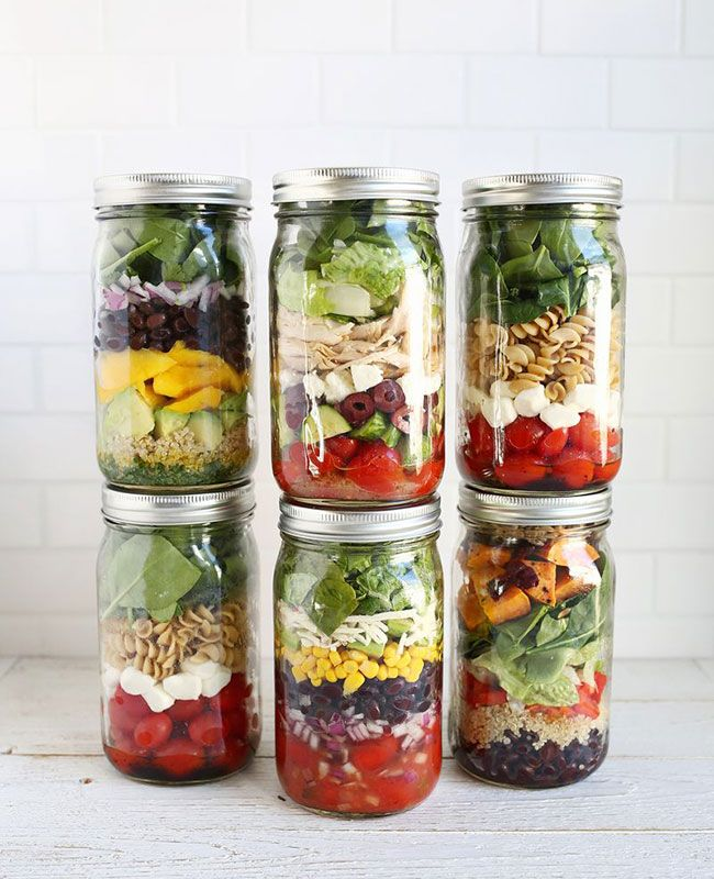 salade jar ou salade en bocal la nouvelle tendance healthy salade salades. Black Bedroom Furniture Sets. Home Design Ideas
