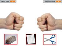 Juego desarrollado en Scratch: Piedra, papel o tijera.