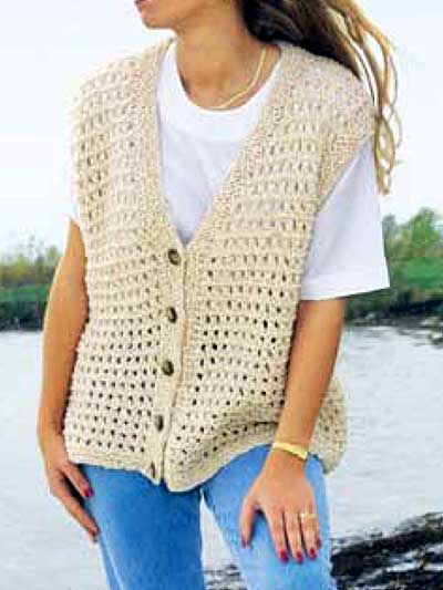 Free Knitted Vest Patterns : Summer Time Vest Free Pattern from Annies Knitted and Crocheted Things...