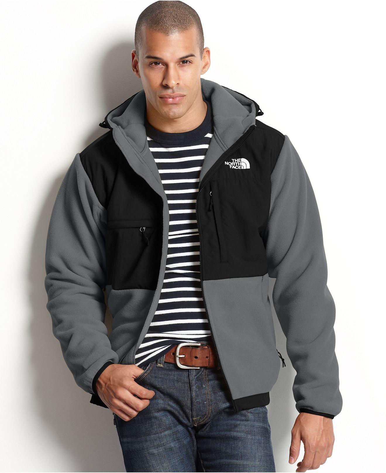 The North Face Jackets Polartec Denali Fleece Hooded Jacket Mens Coats Jackets Macy S North Face Jacket Winter Jacket North Face Jackets [ 1616 x 1320 Pixel ]