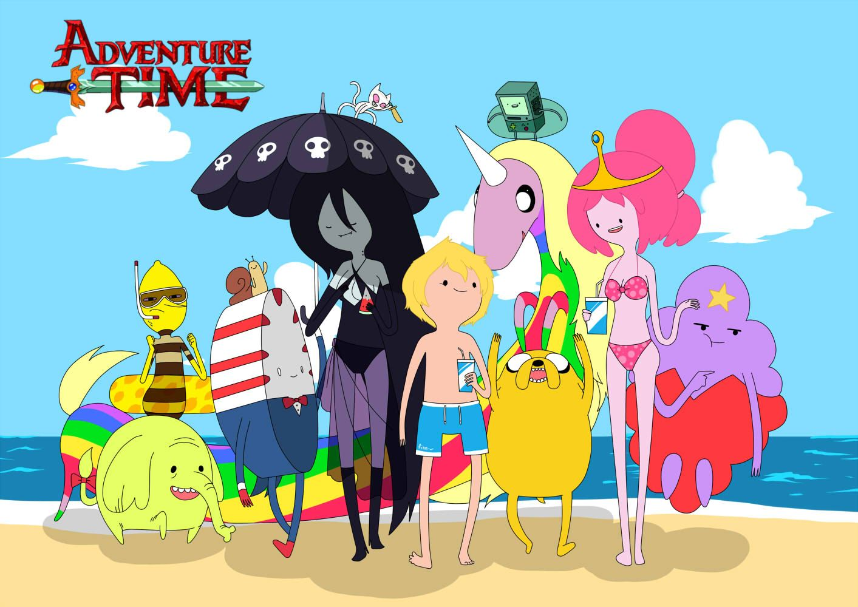 Adventure Time Beach By Carumbell Deviantart Com On Deviantart