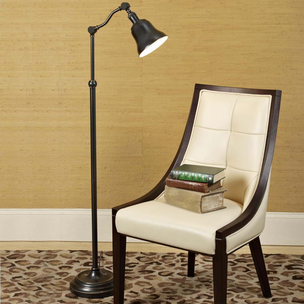 Bell Shade Adjustable Pharmacy Floor Lamp (2 finishes