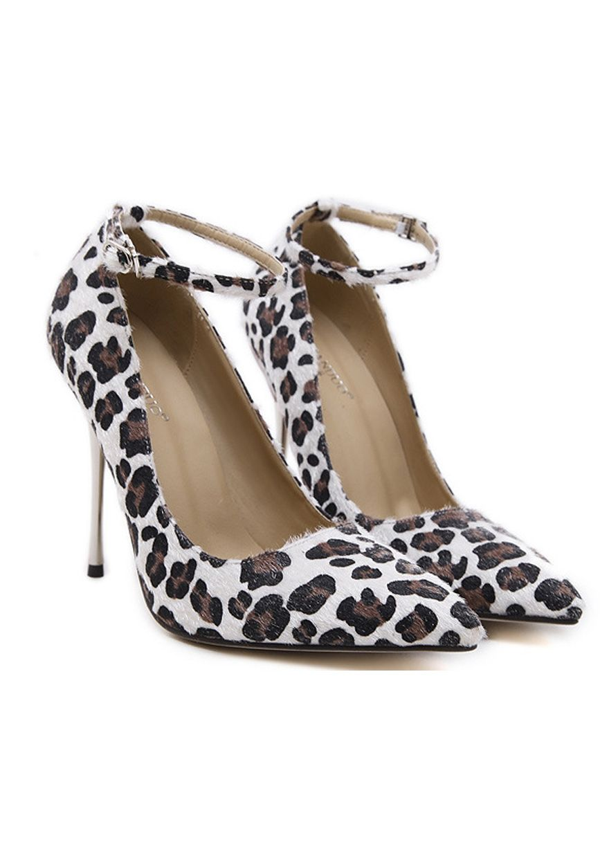 869c63d5fa9f Leopard Printed Ankle Strap High Heels Shoes Women Shoes Sexy Lingeire