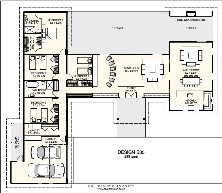 Modern minimalist living with flexible open spaces archi plans modelo malvernweather Choice Image